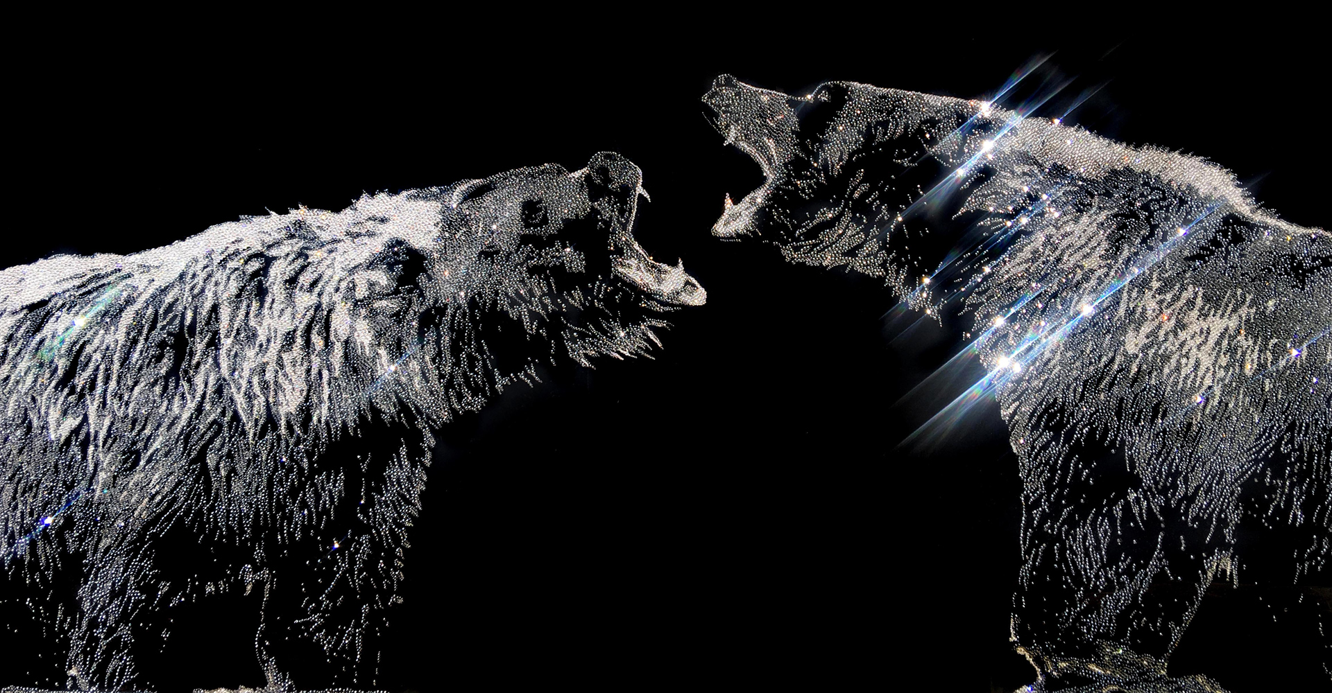 Can you feel my anger?, 40800 Crystals from Swarovski®, plexiglas, 90x150