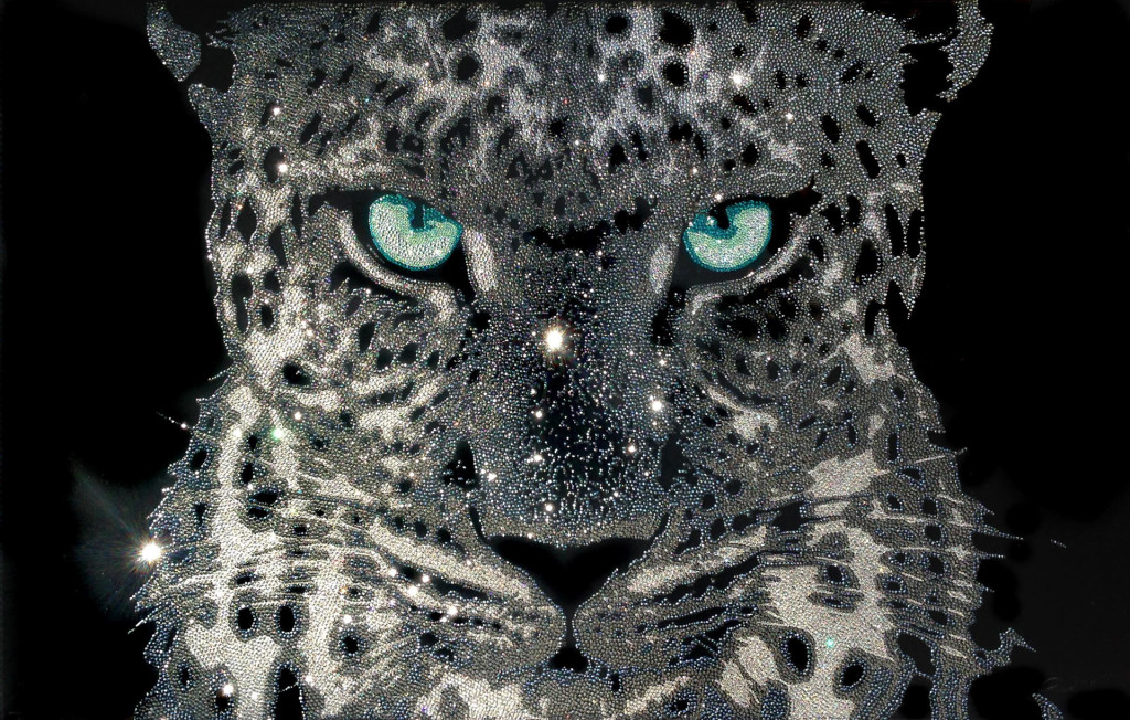 I'm watching you, 43200 Swarovski elements, 70x110 cm, 2015.