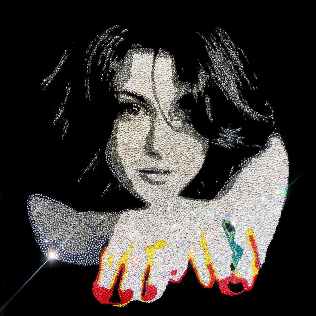 Samira Portrait, 11580 Crystals from Swarovski® su plexiglass, 50x50 cm. 2017