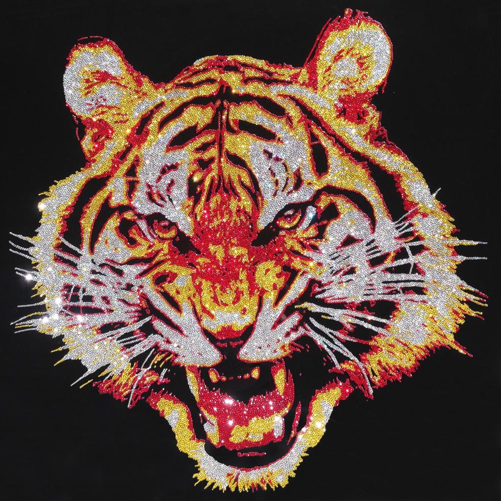 The Tiger, 46300 Crystals from Swarovski® su plexiglas, 100x100 cm. 2014