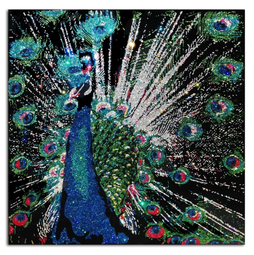 Vanity, 37400 Crystals from Swarovski® su plexiglas, 80x80 cm, 2015
