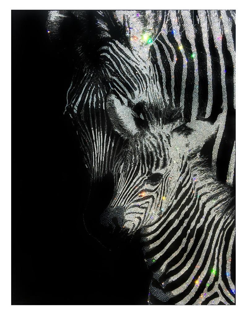 With Love, 23300 Crystals from Swarovski® su plexiglas, 80x60 cm, 2016