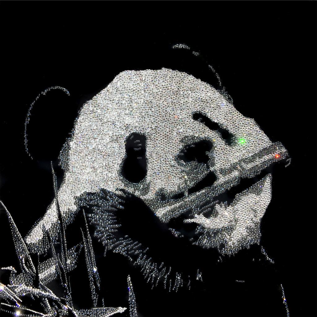 Lovely Panda, 9300 Crystals from Swarovski® su plexiglas, 50x50 cm. 2016