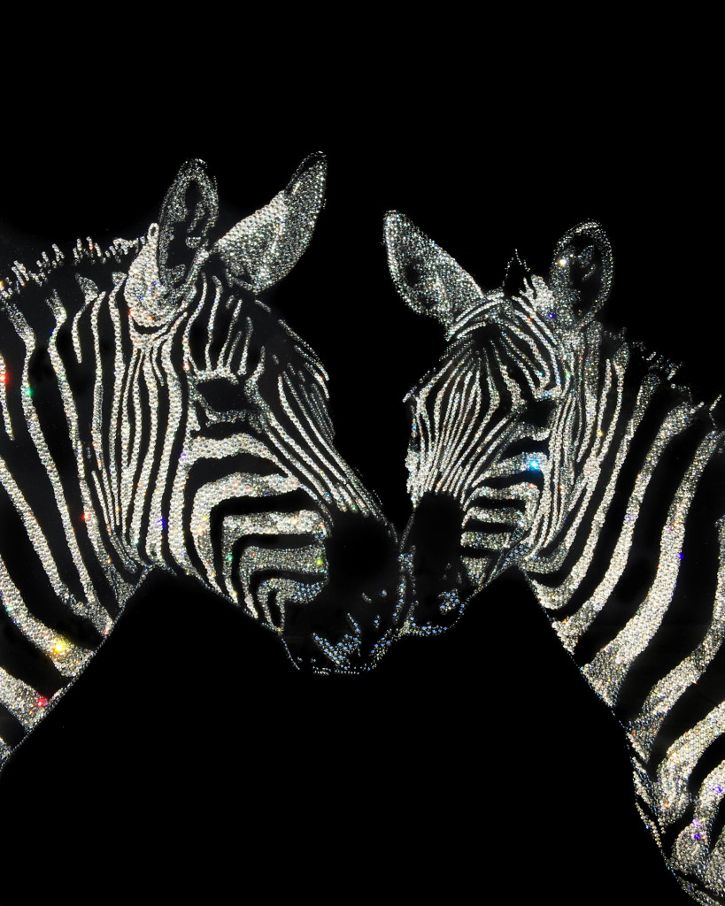 Lovingly Together, 8200 Crystals from Swarovski®, 65x50 cm, 2016