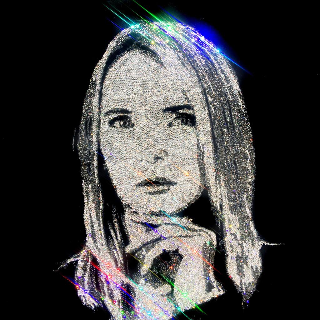 Corinne Portrait, 20400 Crystals from Swarovski® on plexiglass, 70x70 cm. 2017